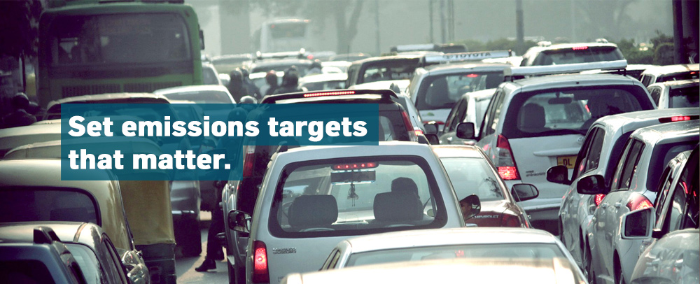 Set emissions targets that matter.